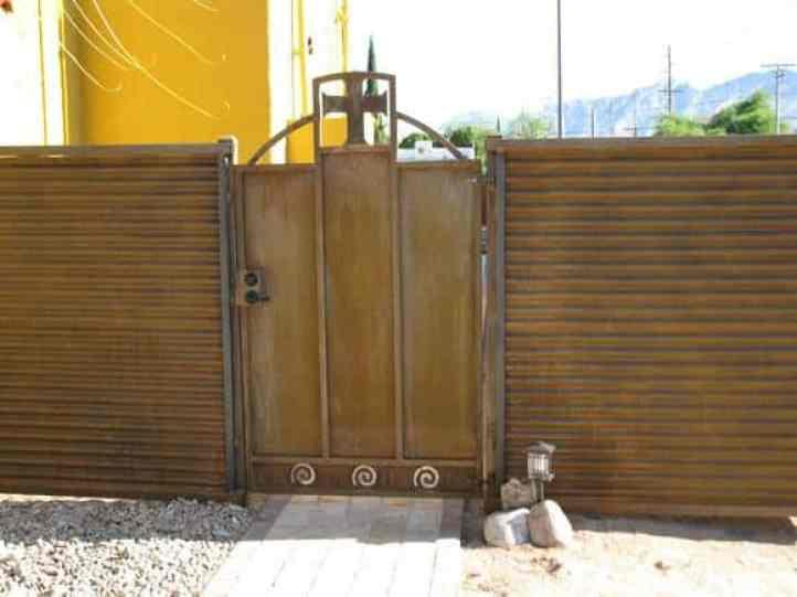 Corrugated Fence and Gates : Affordable Fence u0026 Gates