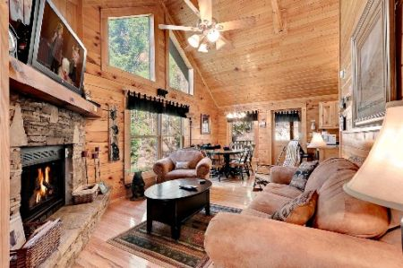 Honey Mountain FeverLog Cabin in East Tennessee Smoky Mountains