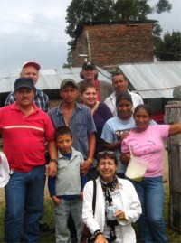 """Hubert """"Huber"""" Ballesteros meets with AfGJ delegates and farming families in Cauca, Colombia"""