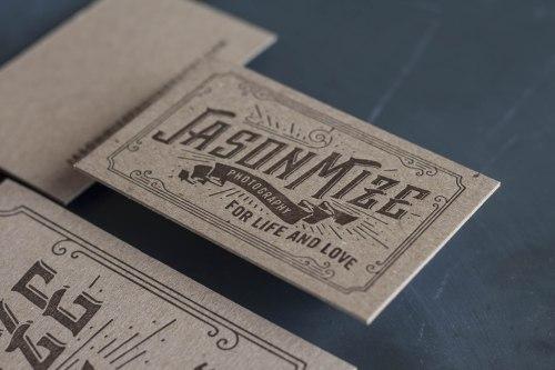 Medium Of Business Card Paper