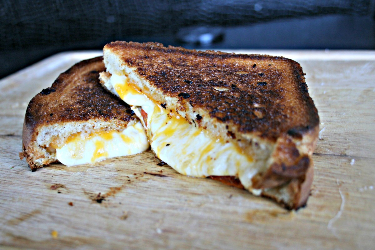 gourmet grilled cheese.