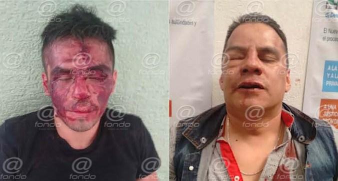 Manifestantes capturan y golpean a dos ladrones armados en Ecatepec