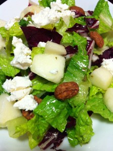 Pear and Goat Cheese Salad with Cinnamon Pecans (Photo Credit: Adroit Ideals)