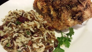 Serve my Wild Rice Salad as a side to Chicken or Turkey for a tasty meal (Photo Credit: Adroit Ideals)
