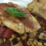 Seared Snapper over Summer Vegetables (Photo Credit: Adroit Ideals)