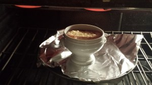 Bake the soup and then broil if the cheese hasn't melted (Photo Credit: Adroit Ideals)