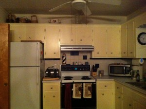 """The original Delaware House kitchen """"BEFORE"""" we updated it (Photo Credit: Adroit Ideals)"""