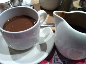 Decadent thick and creamy hot chocolate at Le Cochon Dingue in Quebec City, Quebec (Photo Credit: Adroit Ideals)