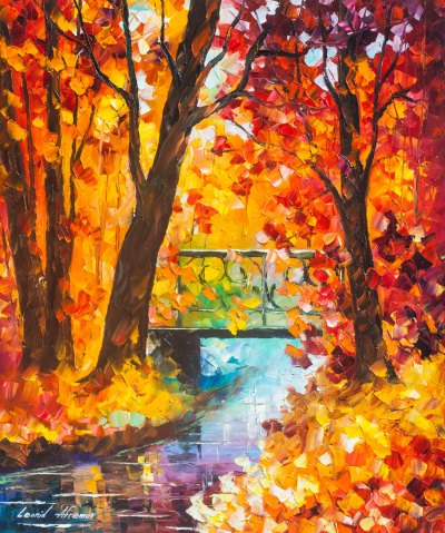 SWINGING TIME - Original Oil Painting On Canvas By Leonid Afremov - 20