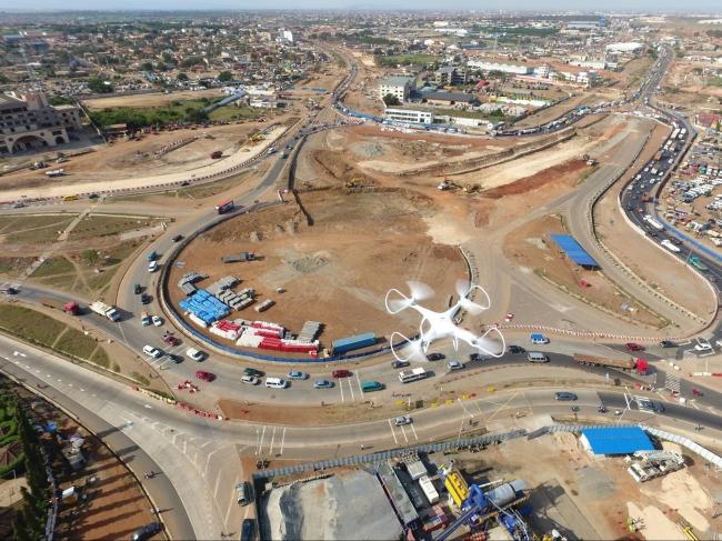 CLUE、清水建設にドローンシステムを提供!ガーナでの大規模工事の施工管理に活用!