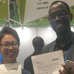 スマホ向けOS開発のアメグミ、TICAD7でルワンダの通信会社とMoU締結!