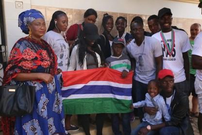 Cittadini gambiani a Dakar