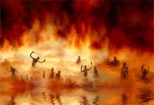L'Église ne croit plus en un véritable enfer où les gens souffrent et cette doctrine est incompatible avec l'amour infini de Dieu et comme la fable d'Adam et Eve, nous voyons l'enfer comme un dispositif