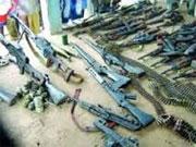 Dix fusils de chasse