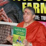 Dr Vandana Shiva at the launch of the agro-ecology case studies in Dar es Salaam