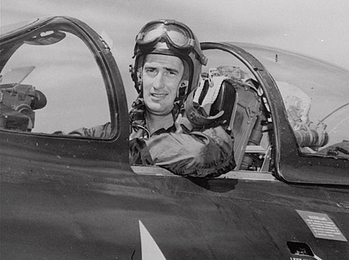 The late, great Ted Williams flew combat missions over Korea in 1953 during a hiatus from his career with the Boston Red Sox. //The Associated Press