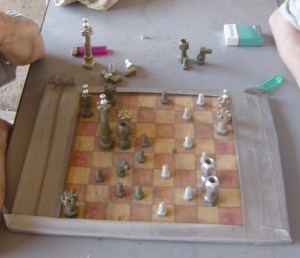 Check out the chess pieces