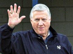 Yankees owner George Steinbrenner served in the Air Force three years at Lockbourne Air Force Base, Ohio. (AP photo)