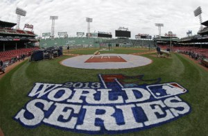 Fenway Park in Boston hosts the World Series opener on Wednesday. (David J. Phillip / The Associated Press)