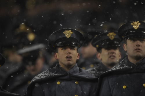 Cadets watch as Navy extends its lead in the 114th Army-Navy football game at Lincoln Financial Field in Philadelphia, Pa., on Saturday, December 14, 2013. Navy won for the 12th straight year, 34-7. (Mike Morones/Staff)