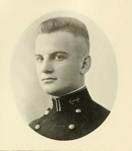 """Willard Ronald """"Nemo"""" Gaines, from the U.S. Naval Academy's """"Lucky Bag"""" annual in 1921. (Navy photo)"""