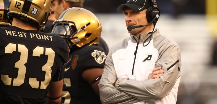 The Army West Point Black Knights, under second-year head coach Jeff Monken, begin their 2015 football season Friday night at home against Fordham. (USA Today Sports photo by Danny Wild)