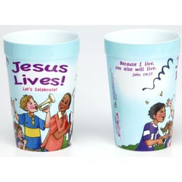 Easter Jesus Lives Let us Celebrate party cup