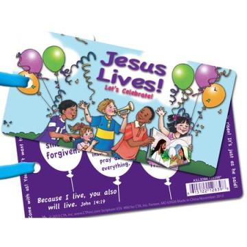 Easter Jesus Lives 3D bookmark