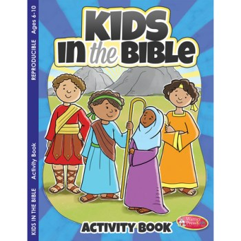 Children in Bible activity color book