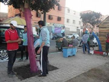 جمعية آفاق تنظم حملة نظافة بالدشيرة الجهادية على مستوى الحي الجديد