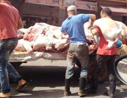 توزيع اللحوم بطريقة عشوائية وغياب كلي لمصالح المراقبة بايت ملول