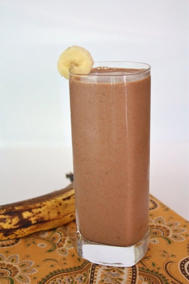 Paleo Dairy-Free Chocolate Peanut Banana Smoothie