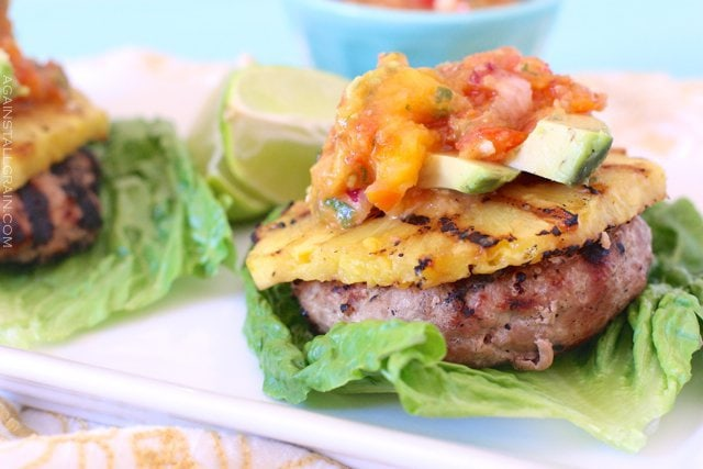 Paleo Teriyaki Pineapple Turkey Burgers