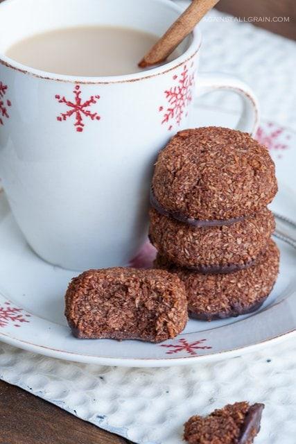 Paleo Chocolate Peppermint Meringue Drops