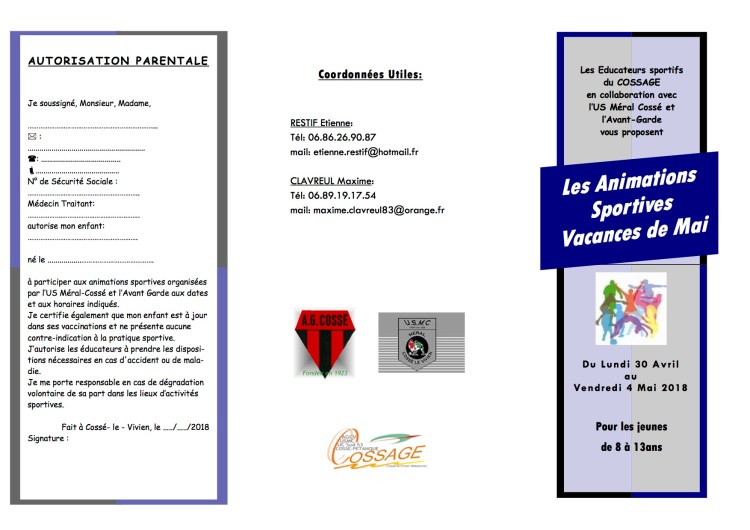animations sportives Mai 2018 copie