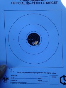 my target - 10 rounds, 50 ft