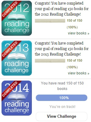 Reading Goals Met - 2012 to 2014 - Goodreads