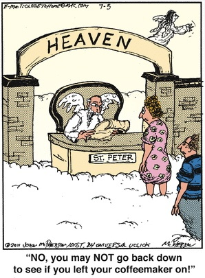 Close To Home Pearly Gates Cartoon A Good Goodbye