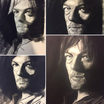 Norman Reedus Charcoal Steps