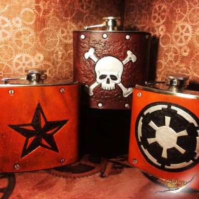 Custom Leather Flask Designs