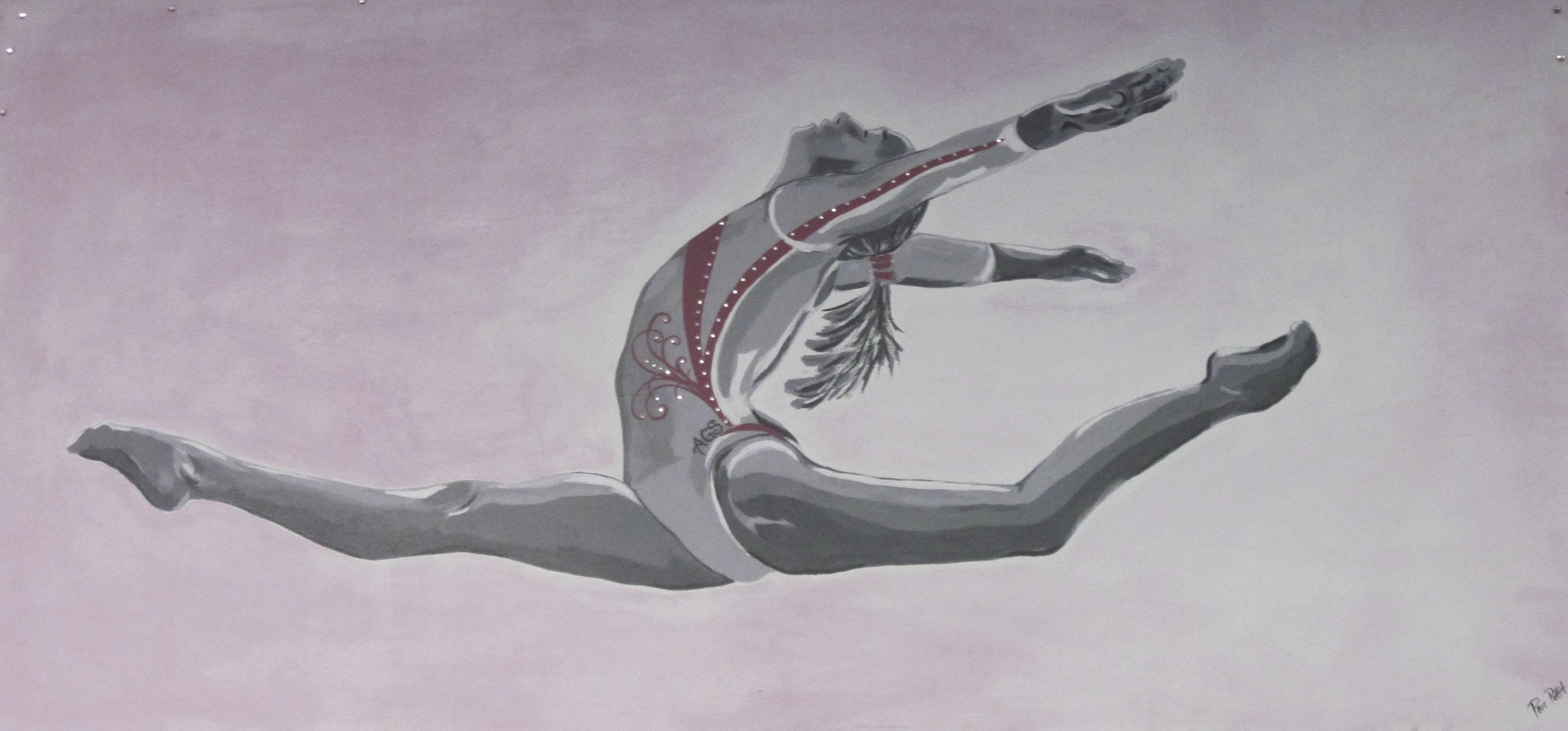 AGS gymnast art