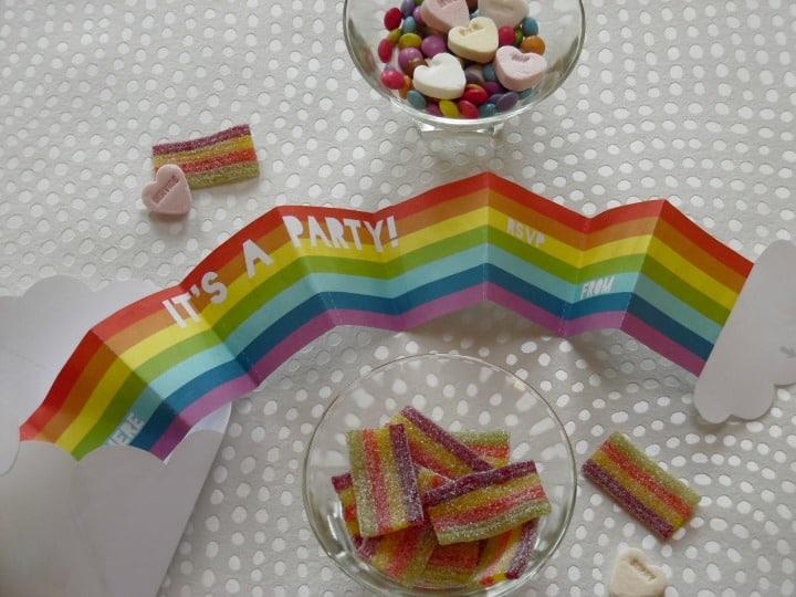 Rainbow Party Invites