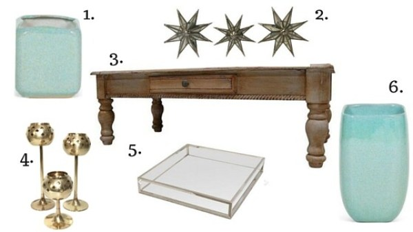 picture showing vintage decor accessories for the living room