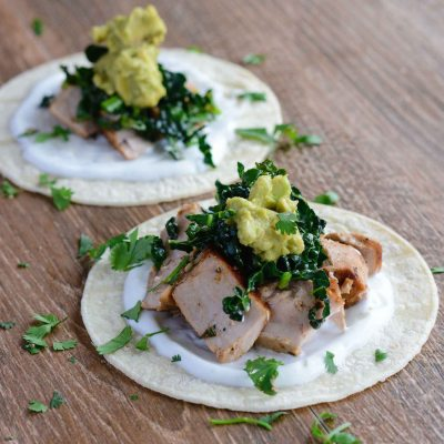 Tequila Lime Fish Tacos with Kale {gluten free}