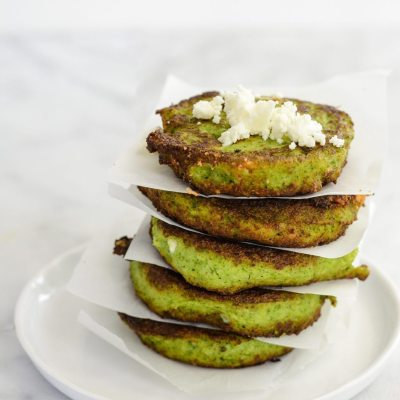 Broccoli Feta Fritters