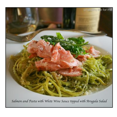 Salmon and Pasta with White Wine Sauce