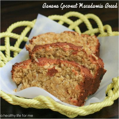 Banana Coconut Macadmia Bread
