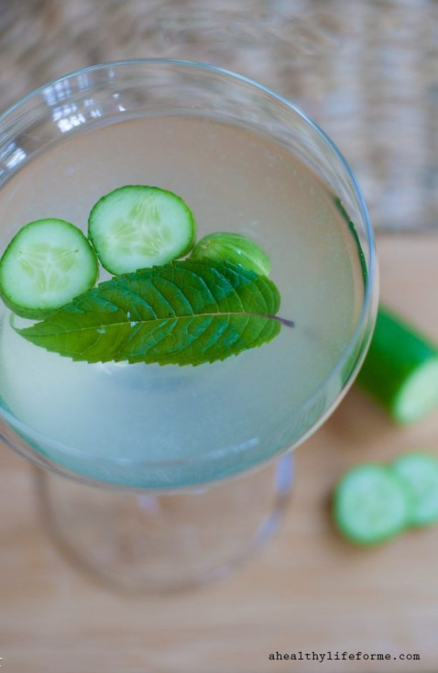 Cucumber Martini Recipe | ahealthylifeforme.com