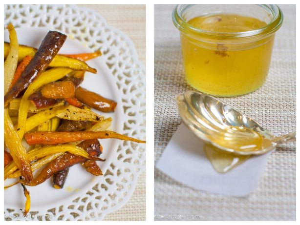 Organic Carrots Olive Oil Salt Pepper Honey