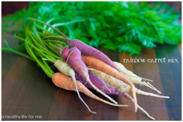 Organic Rainbow Carrot Mix